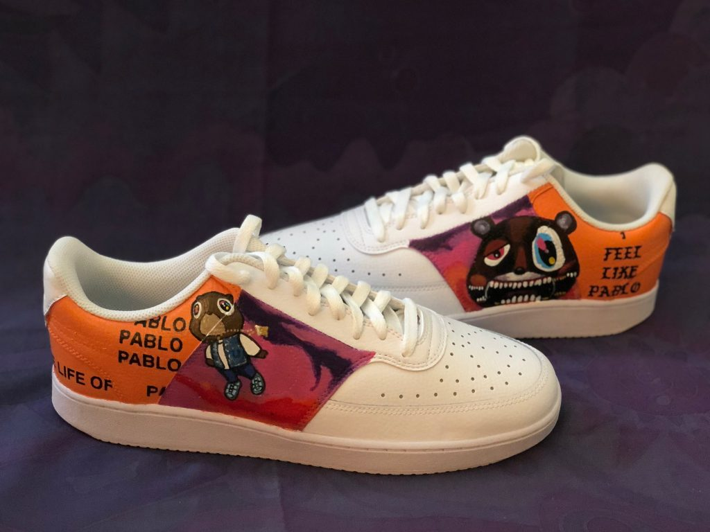 custom art sneaker by Alex A & A22Customs