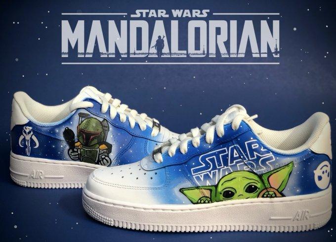 mandalorian custom sneaker art