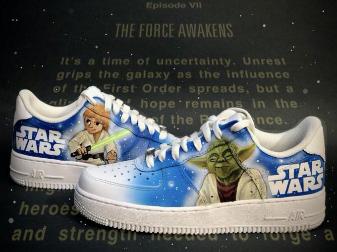 star wars tribute custom shoe